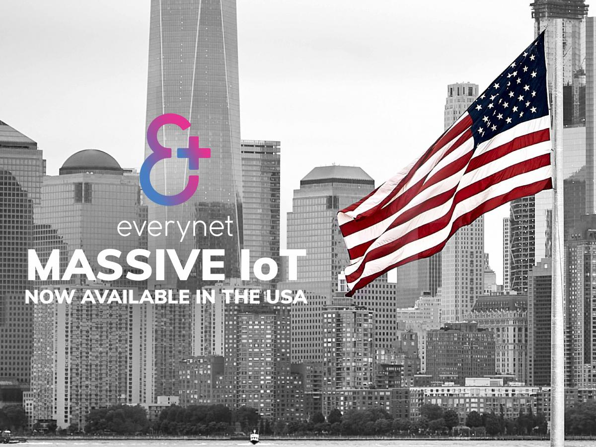 Everynet Massive IoT now available in the USA